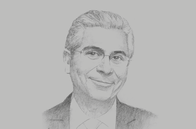 Sketch of <p>Ferid Belhaj, Vice-President for Middle East and North Africa, World Bank</p>