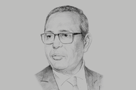Sketch of <p>Samir Majoul, President, Tunisian Union of Industry, Trade and Handicrafts</p>