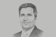 Sketch of <p>Anouar Maârouf, Minister of Communication Technologies and Digital Economy</p>