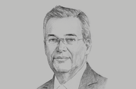 Sketch of <p>Alejandro Díaz de León, Governor, Banco de México</p>