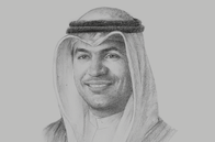 Sketch of <p>Mohammad Y Al Hashel, Governor, Central Bank of Kuwait</p>