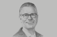 Sketch of <p>Bernd van Linder, CEO, Commercial Bank of Dubai</p>