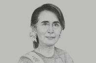 Sketch of <p>State Counsellor Daw Aung San Suu Kyi</p>