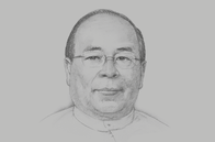 Sketch of <p>U Thaung Tun, Chairman, Myanmar Investment Commission; and Minister of Investment and Foreign Economic Relations</p>