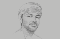 Sketch of <p>Tahir bin Salim Al Amri, Executive President, Central Bank of Oman (CBO)</p>