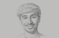 Sketch of <p>Musab Al Mahruqi, Group CEO, OQ</p>