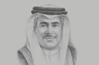 Sketch of <p>Kamal bin Ahmed Mohammed, Minister of Transportation and Telecommunications</p>