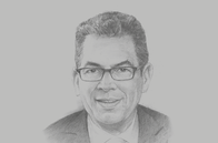 Sketch of <p>Gerd Müller, Minister for Economic Cooperation and Development of Germany</p>