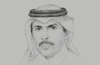 Sketch of <p>Sheikh Abdulla bin Saoud Al Thani, Governor, Qatar Central Bank (QCB)</p>
