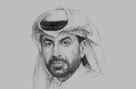 Sketch of <p>Rashid bin Ali Al Mansoori, CEO, Qatar Stock Exchange (QSE)</p>