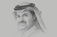 Sketch of <p>Khalid bin Khalifa Al Thani, CEO, Qatargas</p>