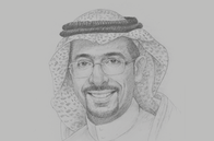 Sketch of <p>Bandar Alkhorayef, Minister of Industry and Mineral Resources</p>