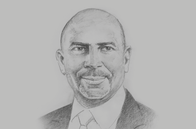 Sketch of <p>Jean-Marie Ackah, President, General Confederation of Businesses of Côte d'Ivoire; and President, Federation of West African Employers' Organisation</p>