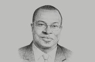 Sketch of <p>Emmanuel Esmel Essis, Director-General, Investment Promo- tion Agency of Côte d'Ivoire</p>