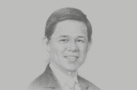 Sketch of <p>Chan Chun Sing, Minister for Trade and Industry of Singapore</p>