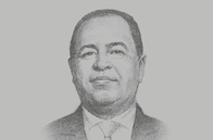 Sketch of <p>Mohamed Maait, Minister of Finance</p>