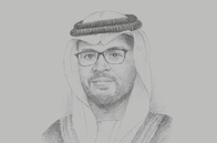 Sketch of <p>Mohammed Ali Al Shorafa Al Hammadi, Chairman, Abu Dhabi Department of Economic Development (ADDED)</p>