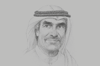 Sketch of <p>Hareb Masood Al Darmaki, Chairman, Central Bank of the UAE (CBUAE)</p>