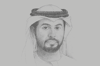 Sketch of <p>Khalifa Salem Al Mansouri, Chief Executive, Abu Dhabi Securities Exchange (ADX)</p>