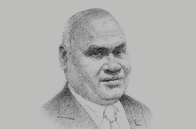 Sketch of <p>Clarence Hoot, Managing Director, Investment Promotion Authority (IPA)</p>