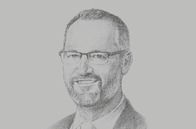 Sketch of <p>Keiran Wulff, Managing Director, Oil Search</p>