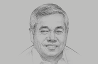 Sketch of <p>Ramon M Lopez, Secretary of Trade and Industry</p>