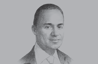 Sketch of <p>Adam Afriyie, UK Trade Envoy to Ghana</p>