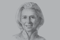 Sketch of <p>Christine Lagarde, Managing Director, IMF</p>