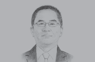 Sketch of <p>James Lau, Managing Director, Rimbunan Hijau (PNG) Group</p>