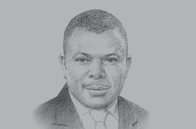 Sketch of <p> Laoye Jaiyeola, CEO, Nigerian Economic Summit Group (NESG)</p>