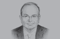 Sketch of <p>Nemeh Sabbagh, CEO, Arab Bank</p>