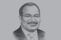 Sketch of <p>Peter O'Neill, Prime Minister</p>
