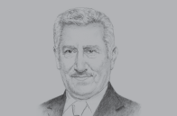 Sketch of <p>Prime Minister Abdullah Ensour</p>