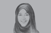 Sketch of <p>Reem Al Hashimy, UAE Minister of State for International Cooperation; and Director General, Expo 2020 Dubai</p>