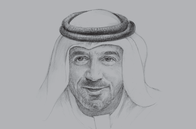 Sketch of <p>Sheikh Ahmed bin Saeed Al Maktoum, Chairman, Dubai Airports; President, Dubai Civil Aviation Authority; and Chairman and CEO, Emirates Group</p>