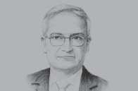 Sketch of <p>Umayya Toukan, Former Minister of Finance</p>