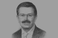 Sketch of M Rifat Hisarcıklıoğlu, President, Union of Chambers and Commodity Exchanges of Turkey (TOBB)