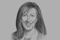 Sketch of  Baroness Morris of Bolton, Head of UK Trade Envoy to Jordan, Kuwait and Palestine