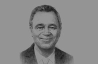Sketch of Mark Simmonds, Parliamentary Undersecretary of State, Foreign & Commonwealth Office