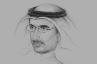 Sketch of  Bader Al Saad, Managing Director, Kuwait Investment Authority (KIA)