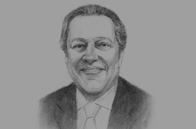 Sketch of Mounir Fakhry AbdelNour, Minister of Trade and Industry