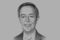 Sketch of Roberto F de Ocampo, Former Secretary of Finance, and Co-Vice-Chairman, Makati Business Club
