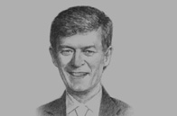 Sketch of John Martin Miller, Chairman and CEO, Nestlé Philippines
