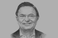 Sketch of Roberto Roy, Minister for Canal Affairs, and CEO, Metro de Panamá