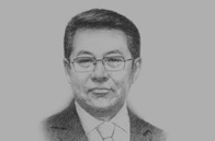 Sketch of Ch. Ulaan, Minister of Finance