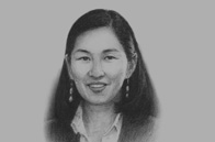 Sketch of Ts. Oyungerel, Minister of Culture, Sports and Tourism