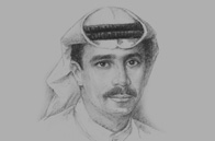 Sketch of Essa Kazim, Chairman, Dubai Financial Market (DFM), and Governor, Dubai International Finance Centre