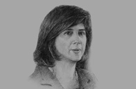 Sketch of María Ángela Holguín Cuéllar, Minister of Foreign Affairs