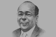Sketch of  Mo Ibrahim, Founder and Chair, Ibrahim Foundation