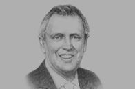 Sketch of  Jose Graña Miro Quesada, Chairman, Graña y Montero